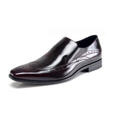 Azor black/red Vicenza M363 formal shoes - . -