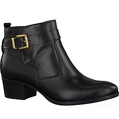 Tamaris - Black '25015' black leather ankle boots