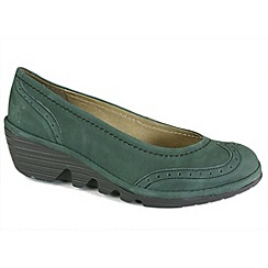 Fly London - Womens teal Pace brogue court shoe