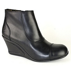 Fly London - Womens Jocy ankle boots with cap toe and inside zip
