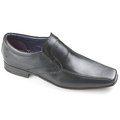 Ikon - Black English classic slip on loafers