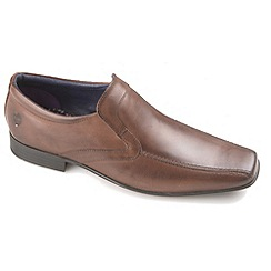 Ikon - Brown English classic slip on tramline loafer