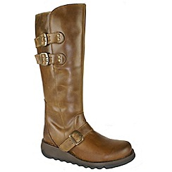 Fly London - Womens camel 'Solv' high leg boots