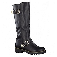 Tamaris - Black high leg boots
