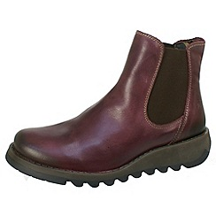 Fly London - Purple rug leather ankle boot