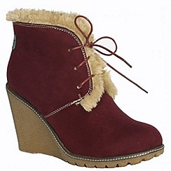 Pixie - Berry Emily faux fur lined ankle boot