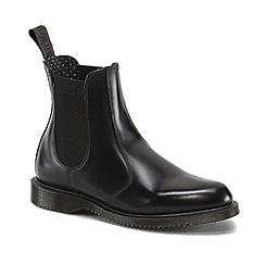 Dr Martens - Black Flora high shine chelsea boots
