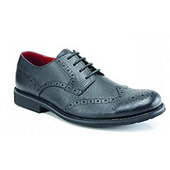 Front - Black 'Claxton' formal shoes
