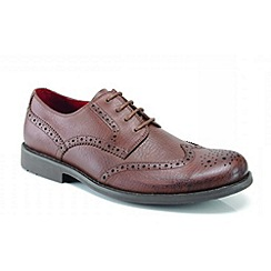 Front - Brown 'Claxton' formal shoes