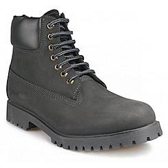Pod - Black 'Walnut' lace up ankle boot