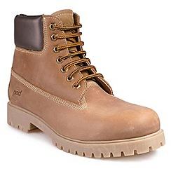 Pod - Tan Rocktan 'Walnut' lace up ankle boot