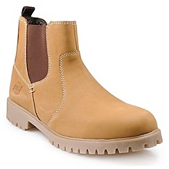 Pod - Tan Honey 'Birch' ankle boots