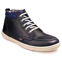Pod - Navy 'Sawyer' lace up high tops
