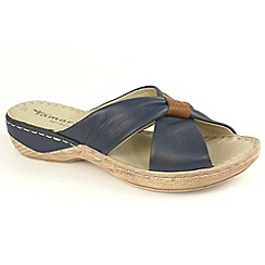 Tamaris - Navy 27222 wedge sandals