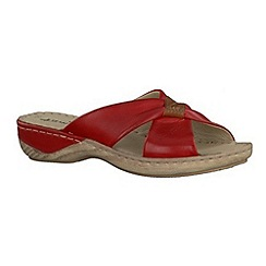 Tamaris - Red  '27222' wedge sandals