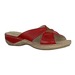Tamaris - Red  '27222' wedge sandals