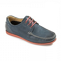 Ikon - Navy  Chester Boat Shoes