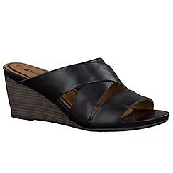 Tamaris - Black '27234' wedge sandals
