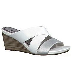 Tamaris - White/ silver '27234' wedge sandals