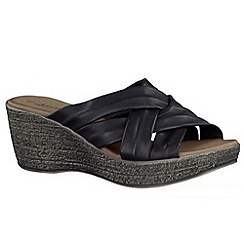 Tamaris - Black Black '27231' wedge sandals