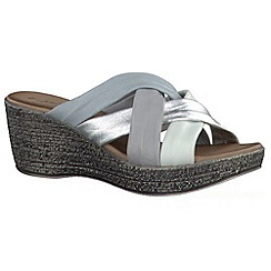 Tamaris - Silver '27231' wedge sandals