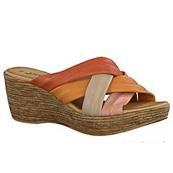 Tamaris - Pink coral/multi '27231' wedge sandals