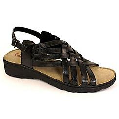 Heavenly Feet - Black 'Susan' wedge sandals