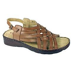Heavenly Feet - Dark brown 'Susan' sandals