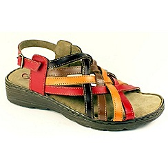 Heavenly Feet - Multi-coloured 'Susan' sandals