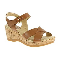 Hush Puppies - Tan 'Eva Farris' wedge sandals