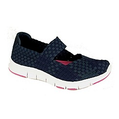 Heavenly Feet - Navy mambo lightweight navy elasticated shoes