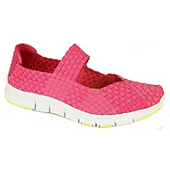 Heavenly Feet - Pink mambo fuchsia lightweight memory foam shoes