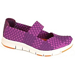 Heavenly Feet - Purple mambo lightweight elasticated purple shoes