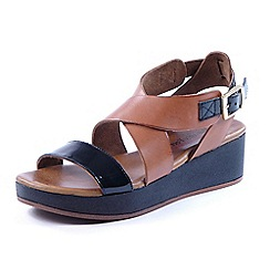 Heavenly Feet - Tan heavenly feet 'Cleo' sandals