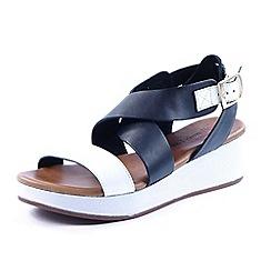 Heavenly Feet - Black 'Cleo' wedge sandals