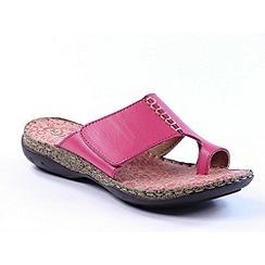 Heavenly Feet - Fuchsia 'Kitten' Sandals