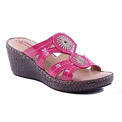 Heavenly Feet - Pink 'Shimmer' wedge sandals