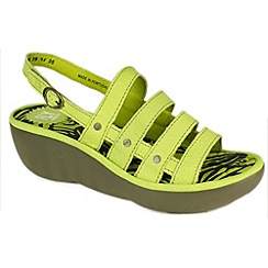 Fly London - Light green 'Bris' wedge sandals