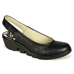 Fly London - Black 'Pype' sling back court shoes