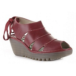 Fly London - Red 'Yown' wedge sandals