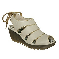 Fly London - Off white 'Yown' wedge sandal