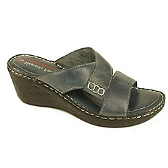 Heavenly Feet - Blue 'Karma' wedge sandal