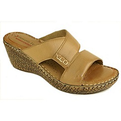 Heavenly Feet - Tan 'Karma' wedge sandals
