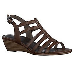 Tamaris - Brown mocca '28200' wedge sandals
