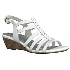 Tamaris - White '28200' wedge sandals