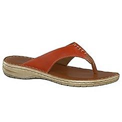 Tamaris - Orange '27210' orange toe post sandals