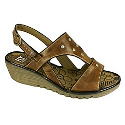 Fly London - Camel 'Odum' wedge sandals