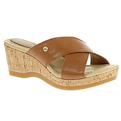 Hush Puppies - Tan 'Jacinda Farris' tan wedge sandals