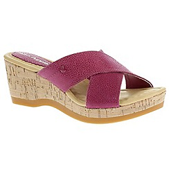 Hush Puppies - Pink 'Jacinda Farris' magenta sandals