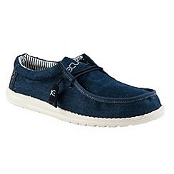 Hey Dude - Dark blue denim 'Wally funk' canvas shoes